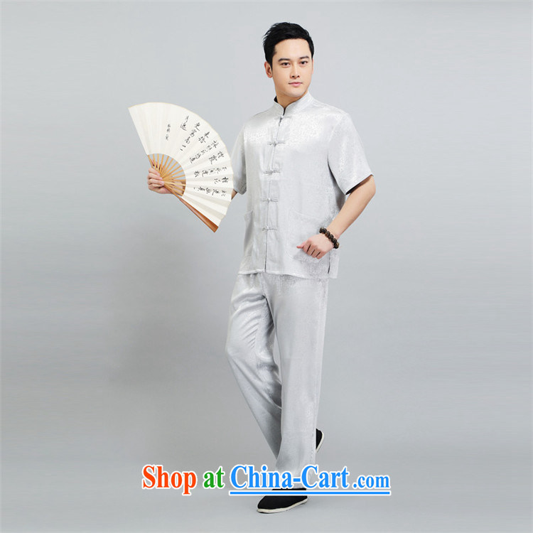 2015 New Britain, Mr Rafael Hui, half sleeve, for men and summer Chinese improved Ethnic Wind and emulation, short-sleeved Tang with pale yellow light gray 190 pictures, price, brand platters! Elections are good character, the national distribution, so why buy now enjoy more preferential! Health