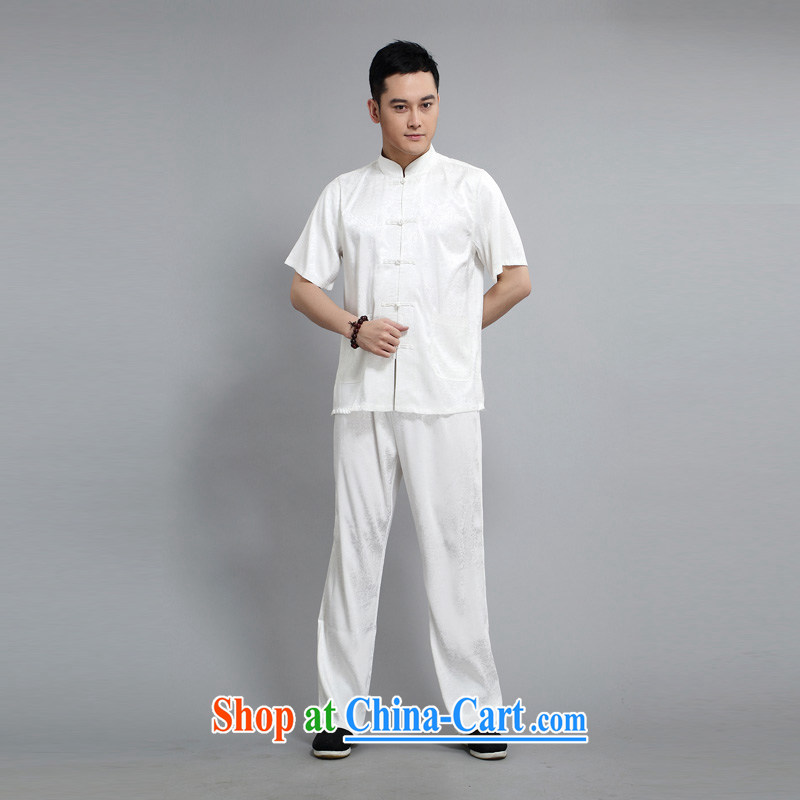 2015 New Britain, Mr Rafael Hui, half sleeve, for men and summer Chinese improved Ethnic Wind and emulation, short-sleeved Tang with pale yellow light gray 190, the British Mr Rafael Hui (sureyou), online shopping