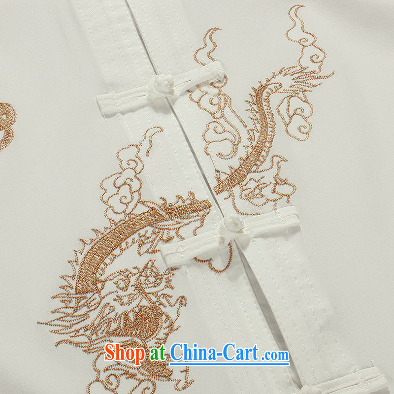 the Lhoba people, evergreens summer new Chinese dragon cotton Chinese men's T-shirt with short sleeves summer wear casual clothing men's black 190, the Lhoba people, evergreens (B . L . WEIMAN), online shopping