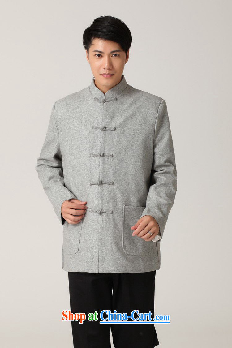 To fuser stylish new men's National wind improved smock pure color for a field for father with Tang jackets WNS/2398 #1 gray 3 XL pictures, price, brand platters! Elections are good character, the national distribution, so why buy now enjoy more preferential! Health