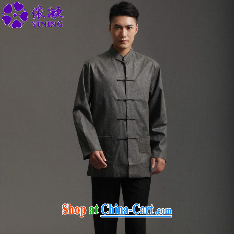 According to fuser new men's clothing retro ethnic-Chinese, for national wind Han-chinese smock costumes WNS_2512 _3 - 3 _3 XL