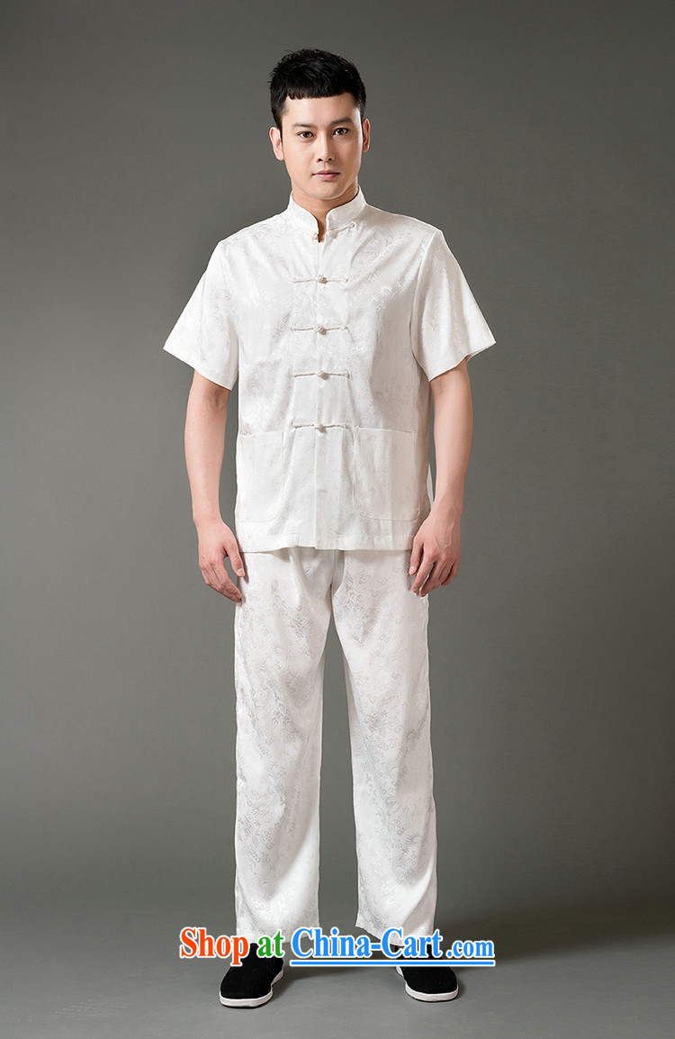 Federal Bob poetry short-sleeved Chinese men and set the older men and Chinese summer 2015, emulation, Tang replacing聽manual tray snap national costumes, Chinese for Chinese White XL/175 pictures, price, brand platters! Elections are good character, the national distribution, so why buy now enjoy more preferential! Health