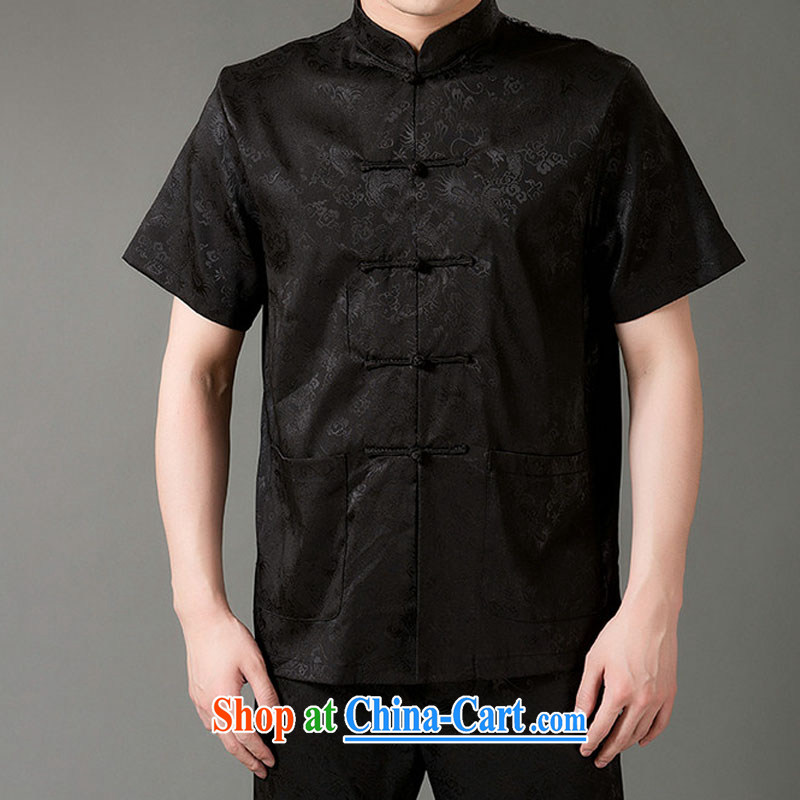 Federal Bob poetry short-sleeved Chinese men and set the older men and Chinese summer 2015, emulation, Tang replacing manual tray snap national costumes Chinese, for Chinese White XL/175, the Federation Bob poetry (lianbangbos), online shopping
