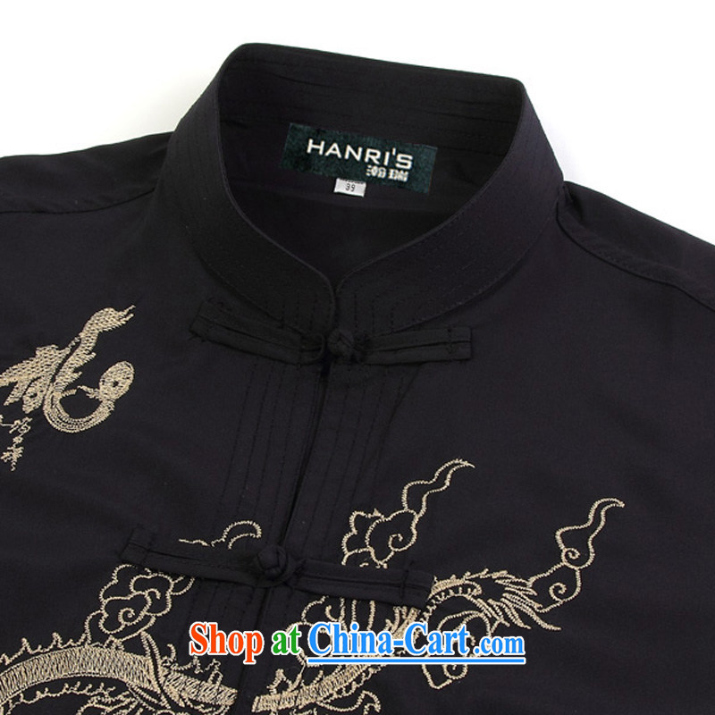 Han Rui hanris China wind hot, short-sleeved shirts Tang in older men and replace the snap shirt Chinese, for loose mounted on short pants white shirt 43/185, Patrick Ryan (hanris), shopping on the Internet