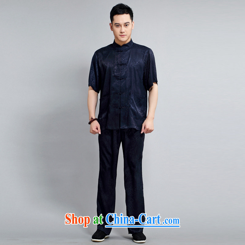 Tang is the short sleeve Summer Load New Tang replace Kit Ching Ming Tang is the older exercises Tai Chi Kit, for T-shirt Tang replace 1501 package blue 180, JACKE EVIS (JACK EVIS), online shopping