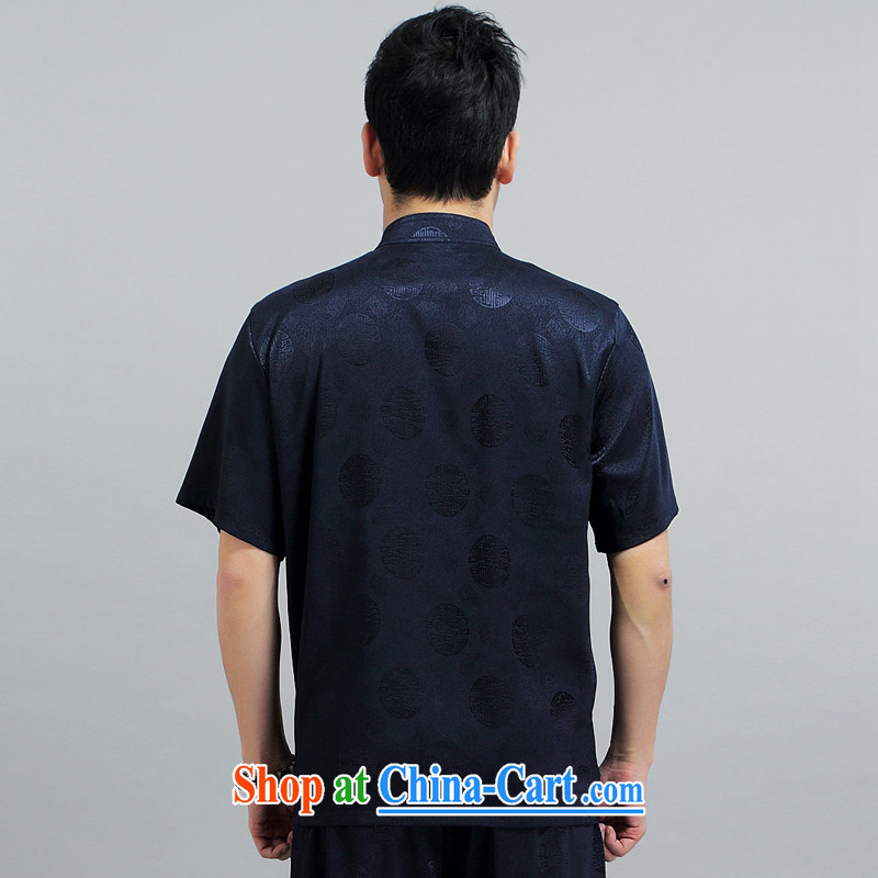 Chinese men and a short-sleeved Kit new summer, short-sleeved Tang load package the Southern Tang in older practitioners Tai Chi Kit T-shirt 1503 blue package 190, JACKE EVIS (JACK EVIS), online shopping