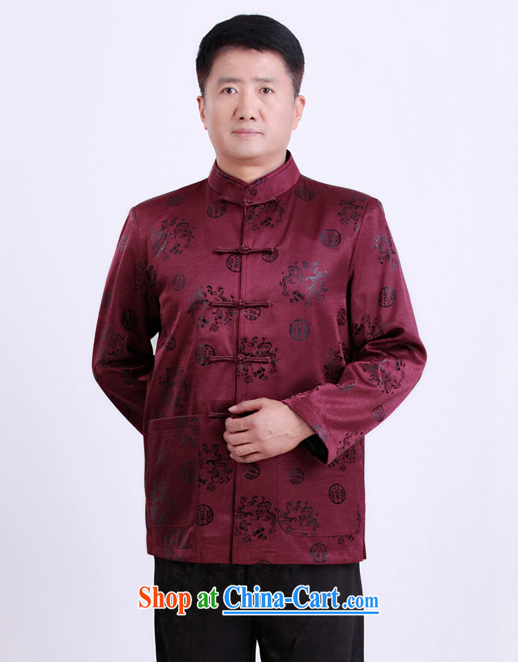 Federation, Mr Tang poetry with men and long-sleeved 2015 New China wind spring male Chinese elderly in his birthday life clothing Chinese father jackets purple 190 pictures, price, brand platters! Elections are good character, the national distribution, so why buy now enjoy more preferential! Health