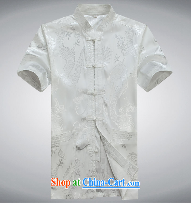 Top Luxury 2015 summer men's short-sleeved Chinese T-shirt middle-aged and older persons Tang Mounted Kit, served Chinese style cynosure serving Chinese, for the buckle clothing pants red 180 pictures, price, brand platters! Elections are good character, the national distribution, so why buy now enjoy more preferential! Health