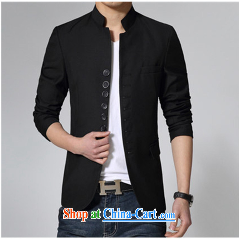 The Generalissimo Korean light suits young men, who wore short spring and autumn the casual dress Black_this paragraph suggested that cultivating a large number 185