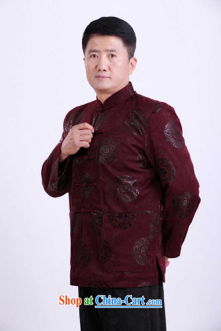 Federation, Mr Tang poetry with men and long-sleeved 2015 New China wind spring male Chinese elderly in his birthday life clothing Chinese father jackets red 190 pictures, price, brand platters! Elections are good character, the national distribution, so why buy now enjoy more preferential! Health