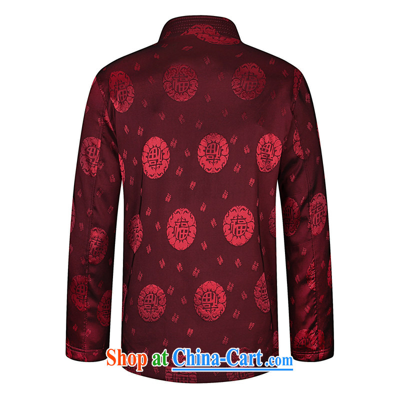To Simitis 2015 new middle-aged and older Chinese elderly Chinese men's jackets retro Tang replace spring T-shirt men's jacket, 92/05 red 190, Simitis, shopping on the Internet