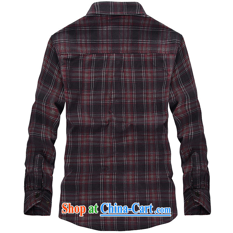 Yuen Long, jeep spring long-sleeved men spend shirt stripes checkered lapel shirt 2359 card its color L, Roma (jeeplu), online shopping
