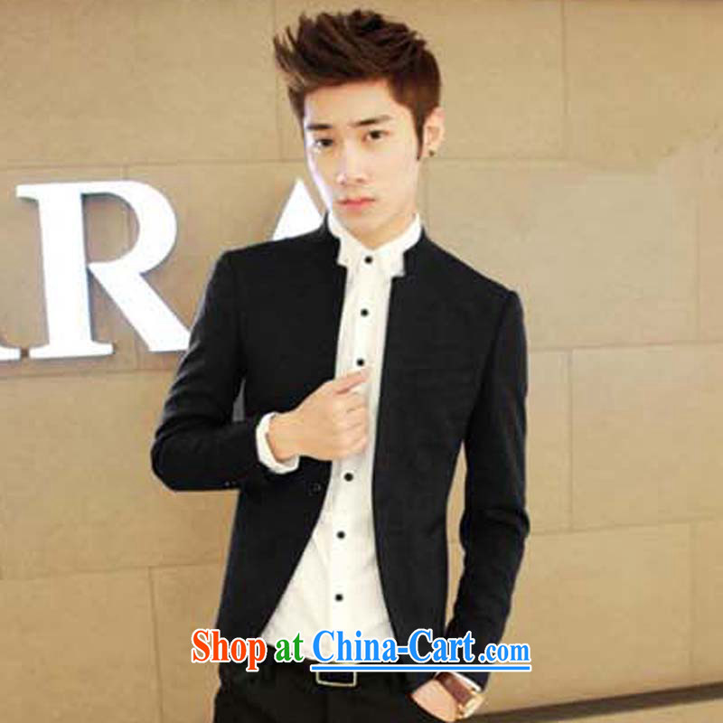 M 2M summer 2015 men, who wore Korean beauty trends Sun Yat-sen suit black XL