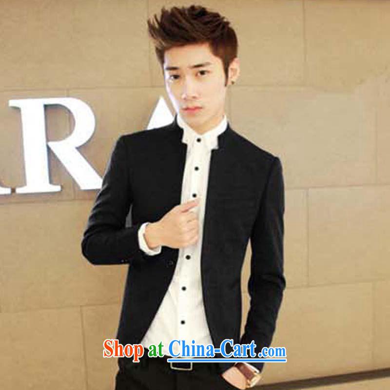 M 2M summer 2015 men, who wore Korean beauty trends Sun Yat-sen suit black XL