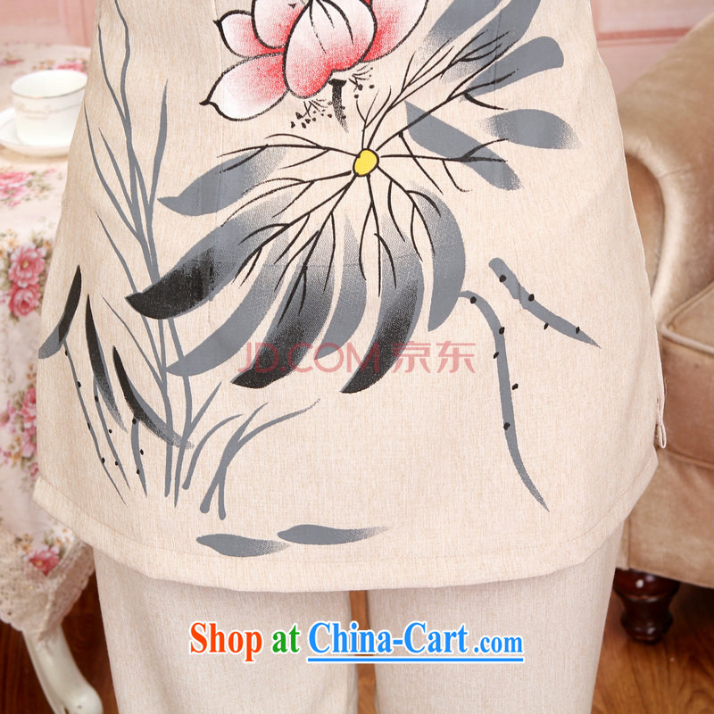 And Jing Ge older Chinese men and women couples for taxis with spring and fall jacket cotton long-sleeved T-shirt the pants kit, white package XXXL, Jing Ge, shopping on the Internet
