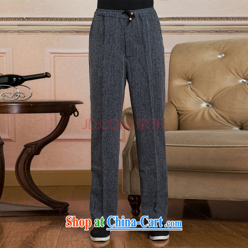 He Jing Ge men short pants Elasticated waist cotton linen trousers have been legged pants pants - 2 pants XXXL