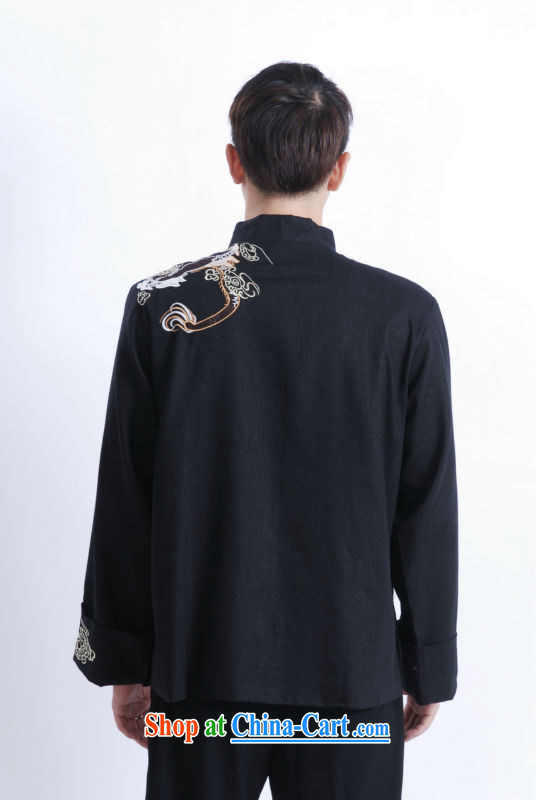 And Jing Ge Chinese men's long-sleeved dress men Tang jackets, for embroidery Chinese dragon M 1121 black XXXL pictures, price, brand platters! Elections are good character, the national distribution, so why buy now enjoy more preferential! Health