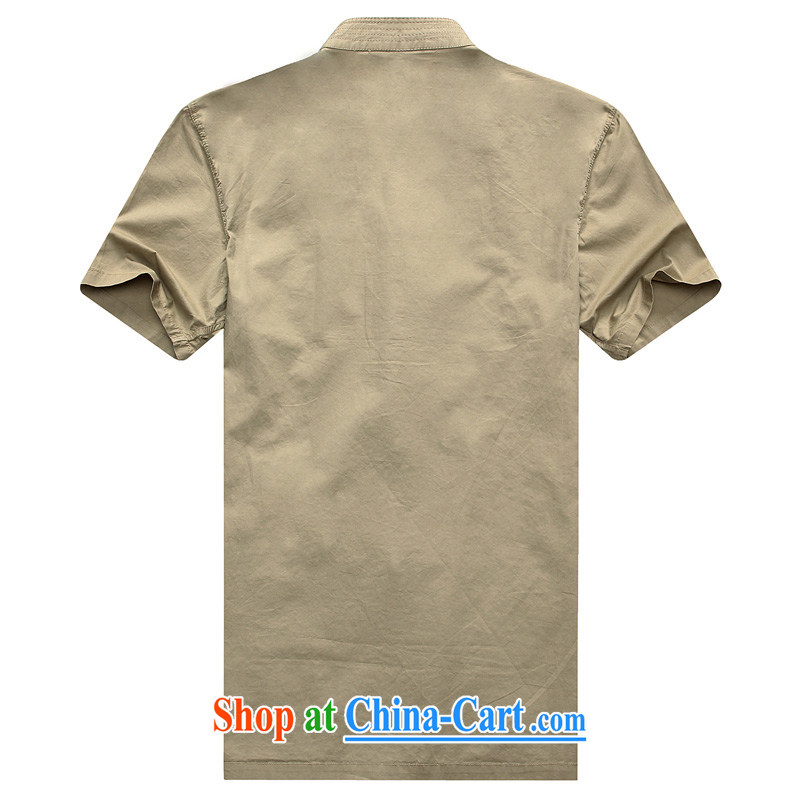 Summer 2015 new, middle-aged men over for the code short-sleeved Tang T-shirts my dad is the T-shirt middle-aged and older men's beige 185, Jordan, and, on-line shopping