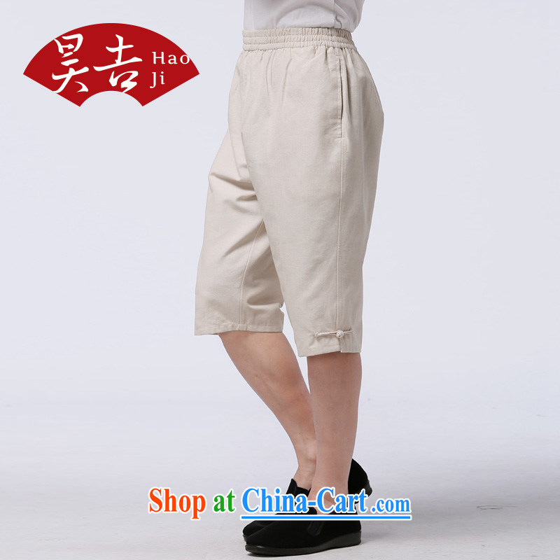 Hao, summer new, older persons with short shorts napped cotton pants, 5 pants, elderly father pants black 175, Ho-gil, shopping on the Internet