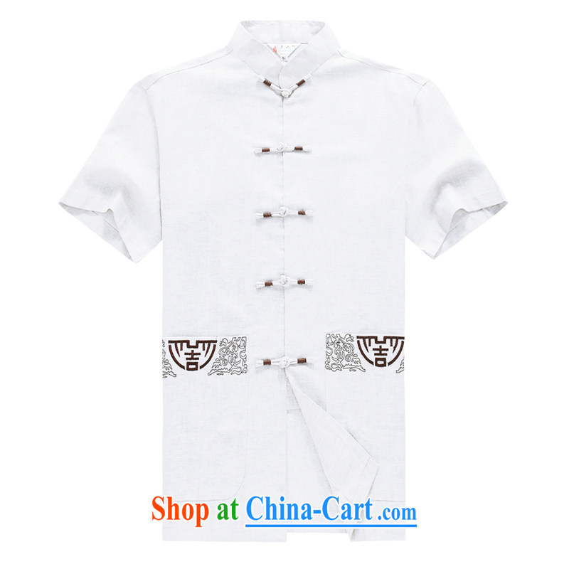 Men's short-sleeved Chinese summer 2015 new male Chinese linen short sleeved T-shirt T-shirt Chinese wind in older men's Chinese D 236 black XXXL, Disney's Prince (CANDYPRINCE), and, on-line shopping