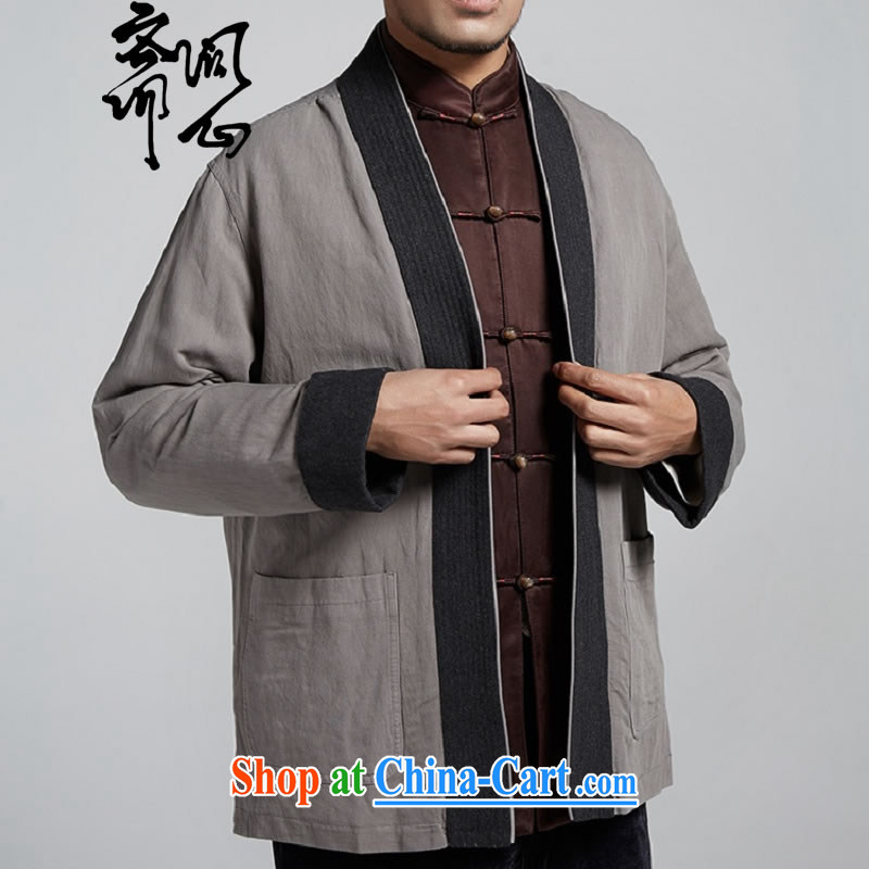 q heart Id al-Fitr electoral and as soon as possible new male male, Chinese improved short Chinese mantle cloak 1109 light gray XXXL, ask heart ID al-Fitr, shopping on the Internet
