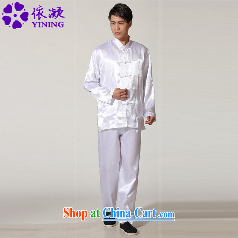 According to fuser stylish new men's Chinese improved Chinese package kung fu shirts and clothing LGD/M #3013 white 2XL