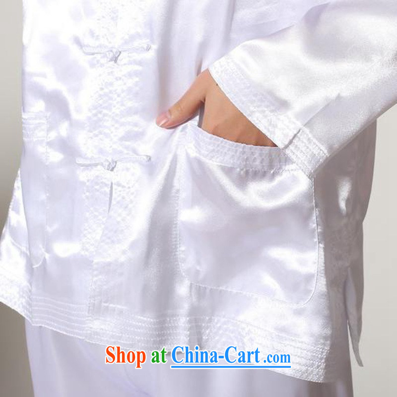 According to fuser and stylish new men's Chinese improved Chinese package kung fu shirts and clothing LGD/M #3013 white 2XL, according to gel, and, online shopping