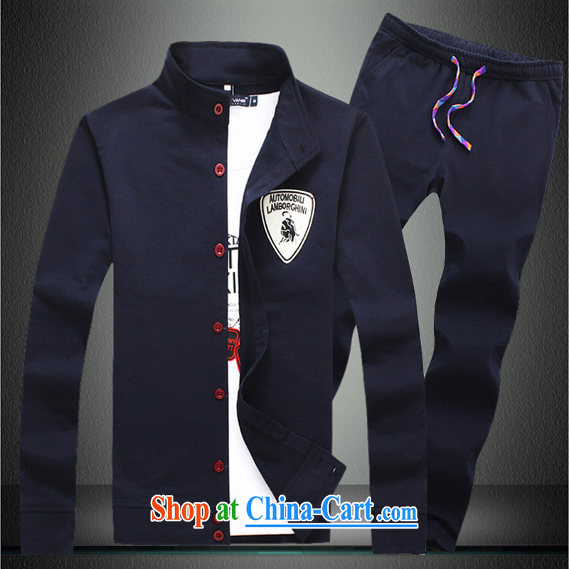 3 AR AR smock 3 Chinese Xia Men's jacket men's jacket, men and Korean Beauty jacket male WY 001 + K 001 Tibetan youth 5 XL