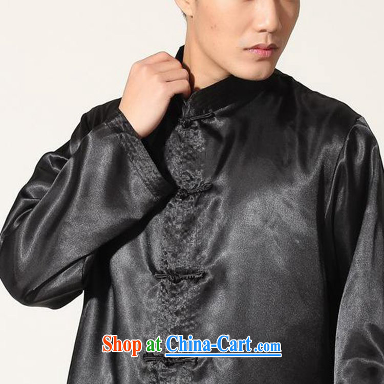 According to fuser stylish new men's National wind load Tang, who has been hard-pressed long-sleeved T-shirt Tang load package and Kung Fu uniform shirt LGD/M 3010# black 2 XL pictures, price, brand platters! Elections are good character, the national distribution, so why buy now enjoy more preferential! Health