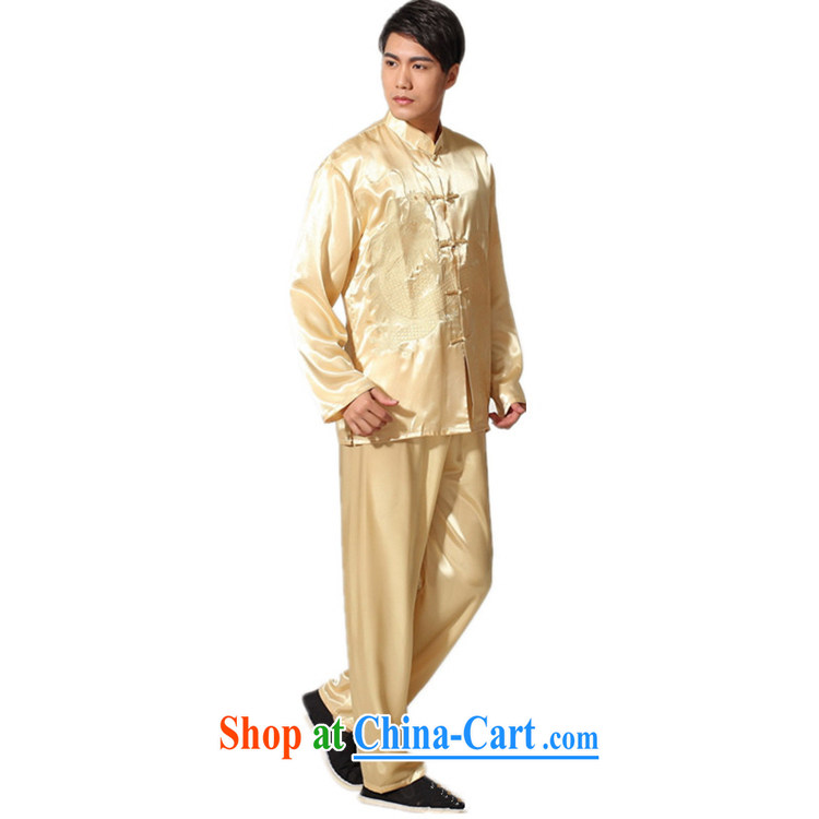 According to fuser stylish new middle-aged and older men and a field for embroidered dragon Tang is packaged and Kung Fu uniform shirt LGD/M 0012 #Cornhusk yellow 2XL pictures, price, brand platters! Elections are good character, the national distribution, so why buy now enjoy more preferential! Health