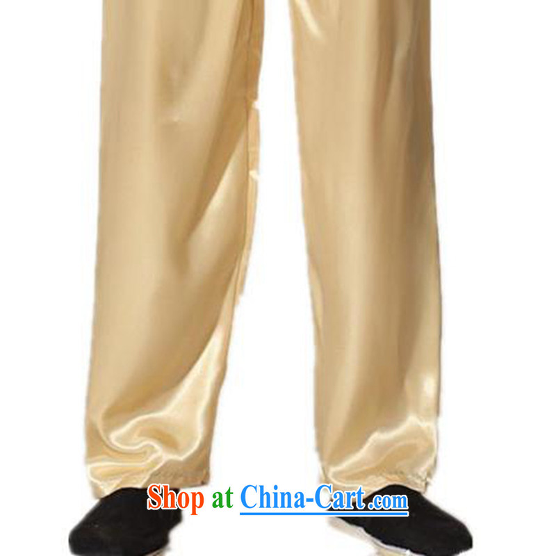 According to fuser stylish new, older men and a field for enquiries embroidered dragon Tang is packaged and Kung Fu uniform shirt LGD/M 0012 #Cornhusk yellow 2XL, according to fuser, and shopping on the Internet