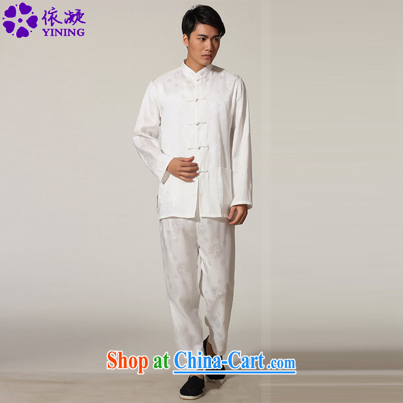 Under the fuser and stylish new middle-aged and older men and the National wind Chinese Tang package with the Kung Fu uniform shirt LGD_M 0050 _3 XL