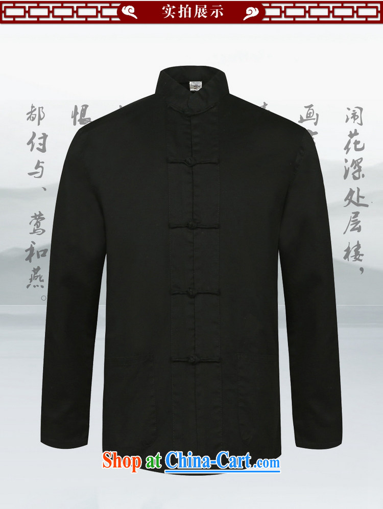 cool ocean new, men's cotton Tang with long-sleeved shirt China wind and spring shirt Chinese, for loose version single layer jacket hand-tie dress black 42/180 pictures, price, brand platters! Elections are good character, the national distribution, so why buy now enjoy more preferential! Health