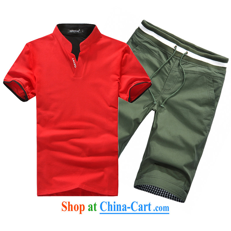 3 AR smock tang on the 2015 summer on the new t-shirt and shorts 387 + K 083 378 red + K 083 green M