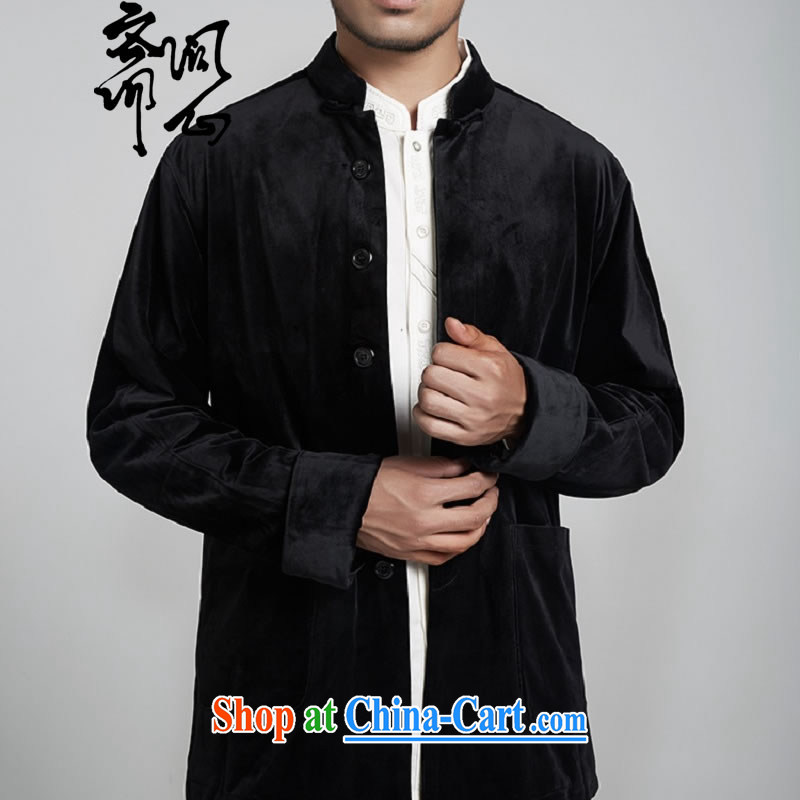 q heart Id al-Fitr (the health fall and winter New Products men's Chinese jacket, collar-tie Tang jackets jackets 1167 black M, ask heart ID al-Fitr, shopping on the Internet