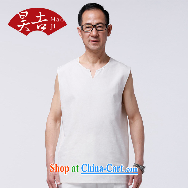 Hao, summer, older men Tang with white vest cotton muslin Khan elderly vest sleeveless shirts white 190