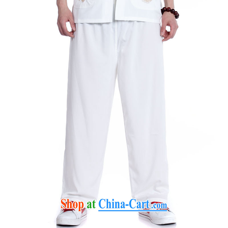 Kosovo's card, the new men's jeans has been the loose trousers king the Korean Beauty and the fertilizer cotton casual pants in XP Tang pants white XXL