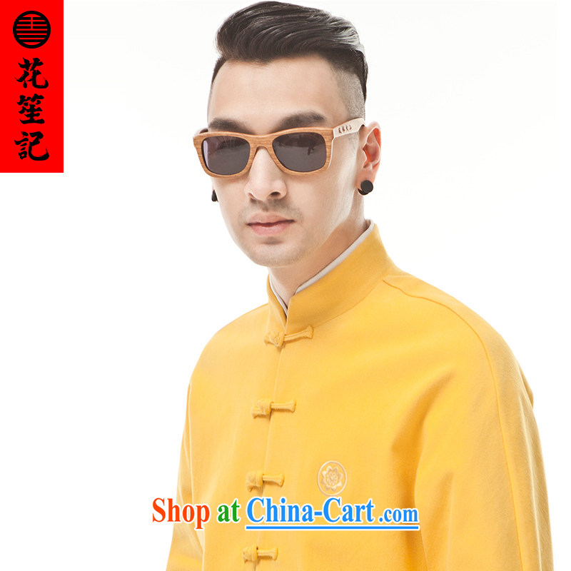 His Excellency took the wind (B) is not 9 color military men and aggressive beauty Long-Sleeve stylish Chinese retro T-shirt yellow furnace oven Huang Ju (XL)