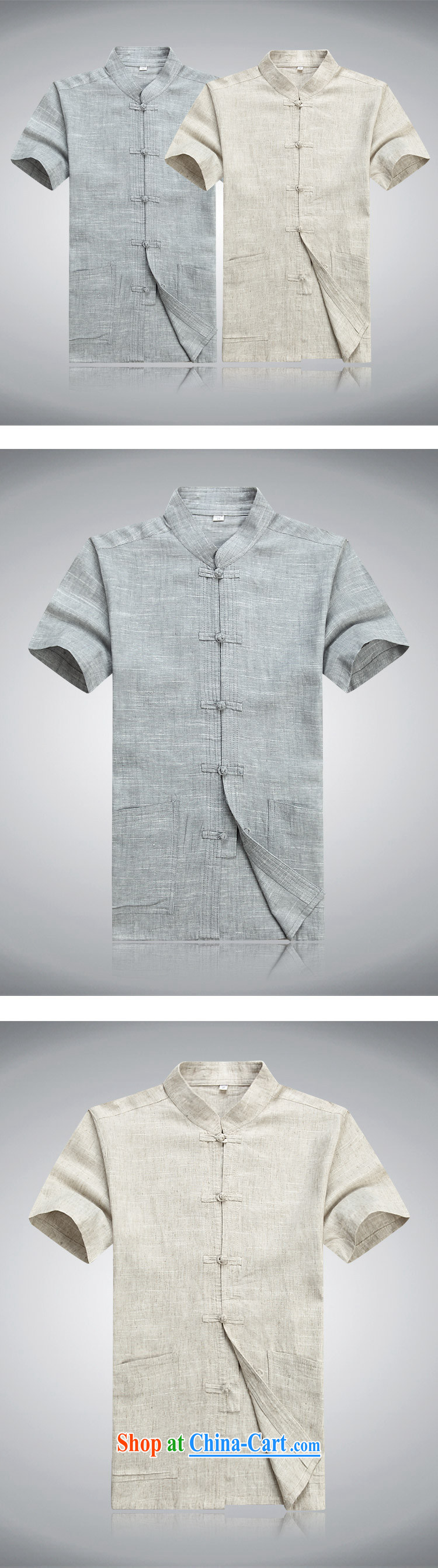 Bong-ki Paul summer thin linen cotton Chinese package men's new t-shirt short-sleeved Tai Chi clothing father loaded national costumes China wind 8056 #light gray suit 190 pictures, price, brand platters! Elections are good character, the national distribution, so why buy now enjoy more preferential! Health