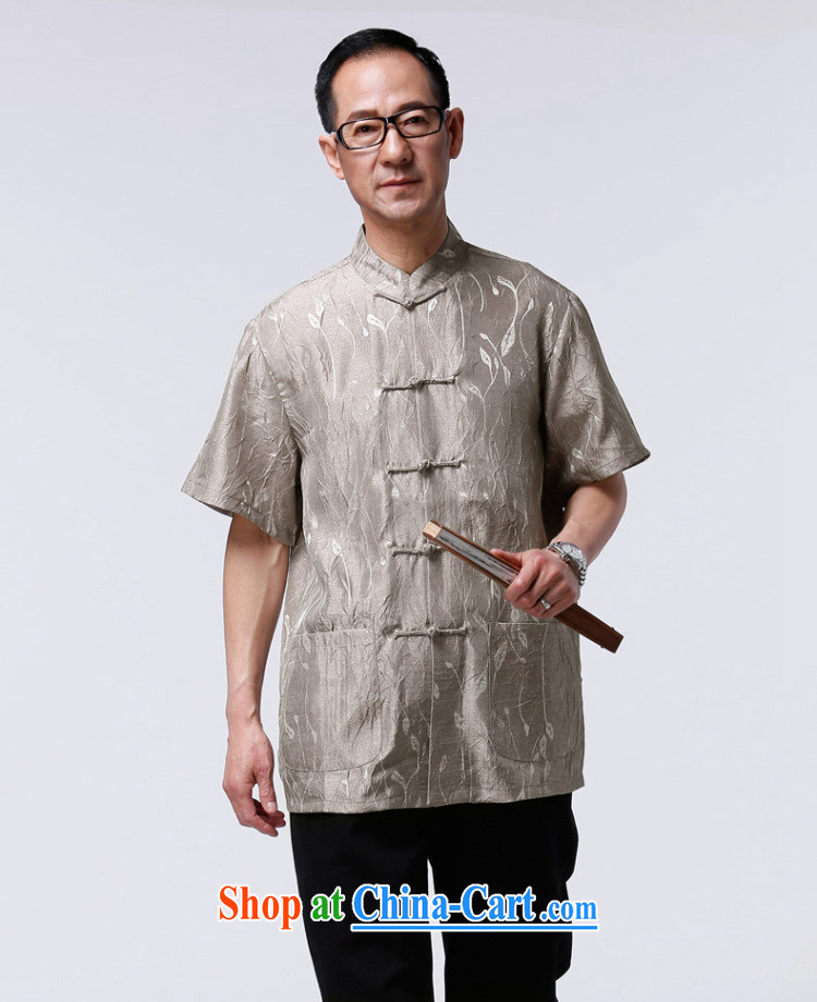 HO CHI men and elderly people in summer short-sleeved Chinese elderly half sleeve tang on the T-shirt Dad China wind improved T-shirt gray XXXXL/185 pictures, price, brand platters! Elections are good character, the national distribution, so why buy now enjoy more preferential! Health