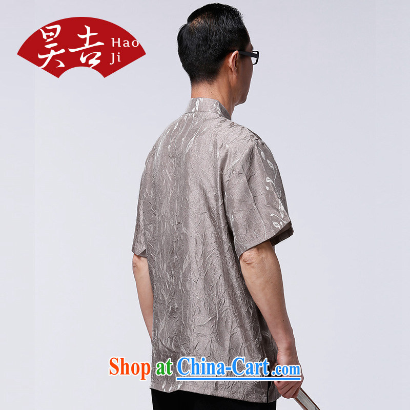 HO CHI men and elderly people in summer short-sleeved Chinese elderly half sleeve tang on the T-shirt Dad China wind improved T-shirt gray XXXXL/185, Ho-gil, shopping on the Internet