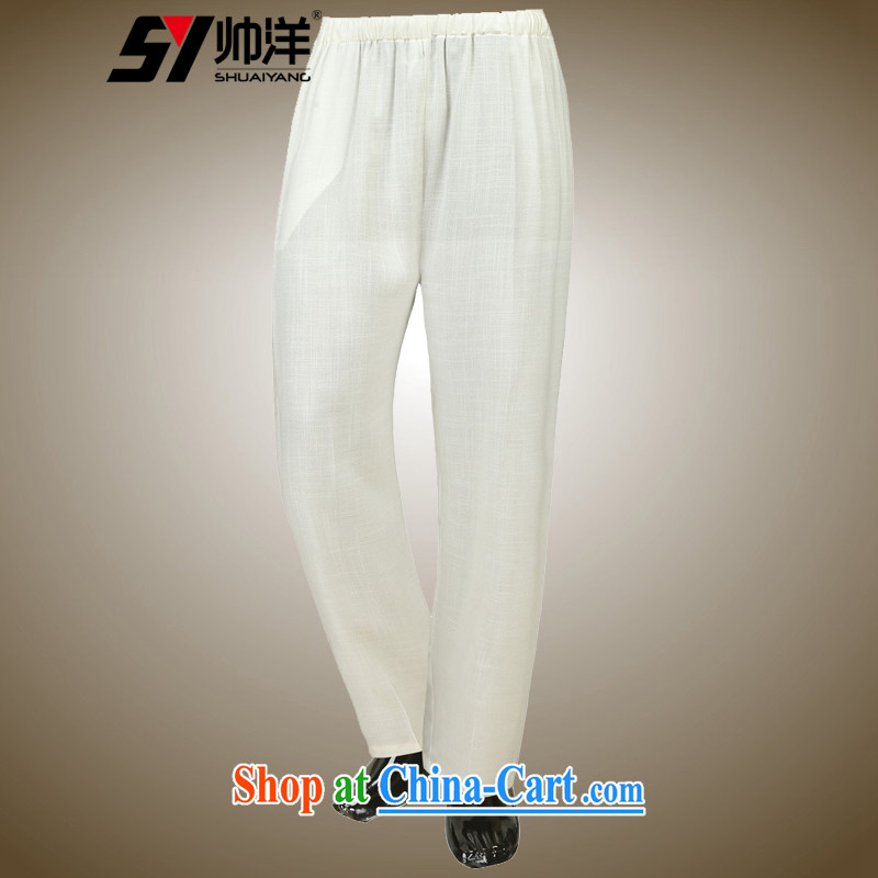 cool ocean 2015 new summer men's short pants China wind pants ultra-thin breathable Chinese male white 39_165