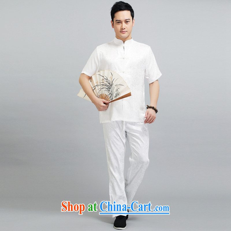 Tang is the package summer sauna silk short-sleeved Tang package installed in older men's father with 1506 Kit white 190, JACKE EVIS (JACK EVIS), shopping on the Internet