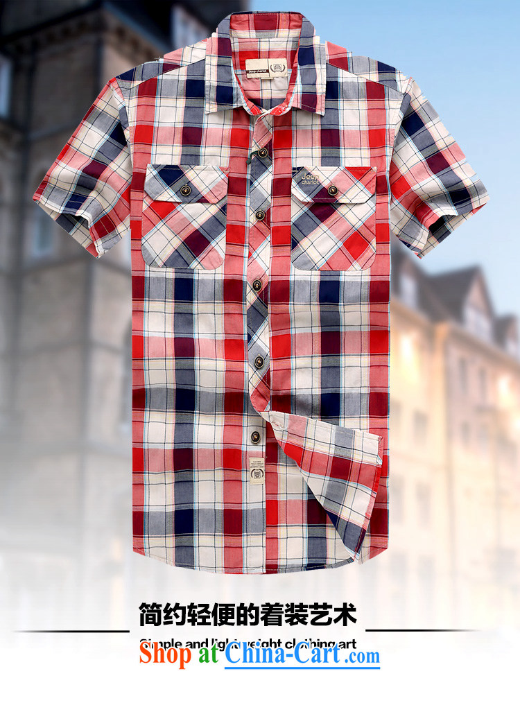 Jeep VEHICLES WITH SHORT men's short-sleeved shirt lapel youth leisure business washable short sleeve pure cotton color tie T-shirt casual shirt 632 blue L pictures, price, brand platters! Elections are good character, the national distribution, so why buy now enjoy more preferential! Health