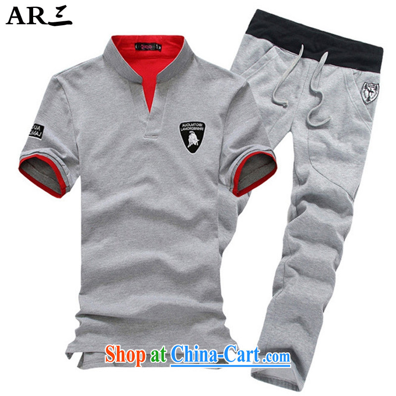3 AR AR smock 3 Chinese Xia Men's casual jacket sweater Kit male summer 7706 gray coat gray trousers M