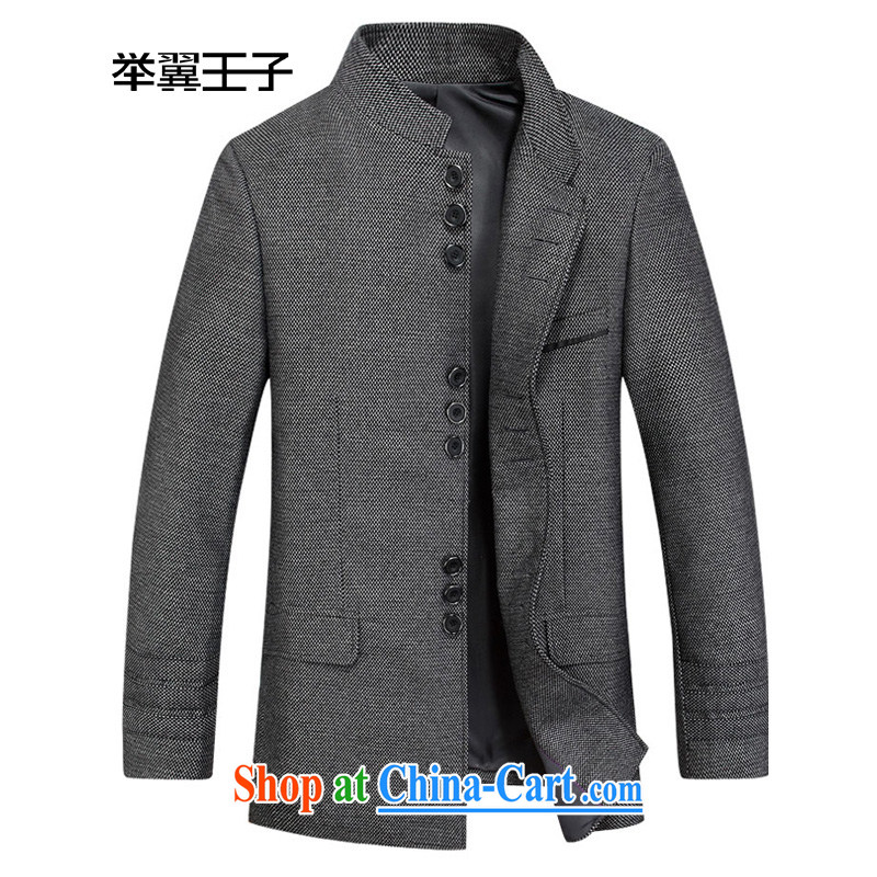 To Wing Prince and smock genuine male Chinese, for cultivating spring suit men China wind wool jacket men jackets black and gray 195/56