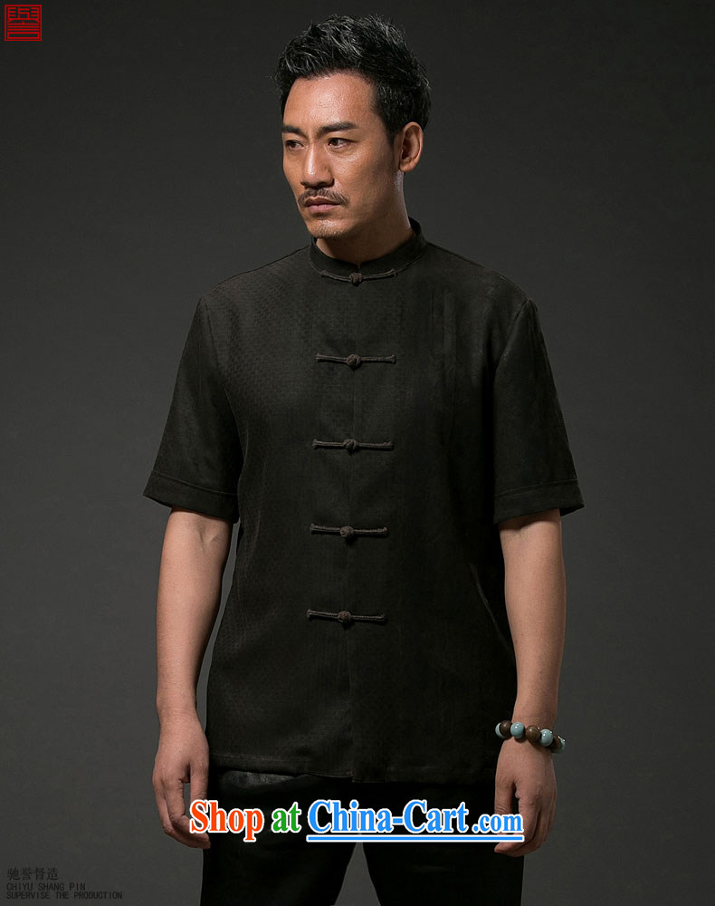 Internationally renowned Chinese wind men's Summer Scent cloud yarn is silk, older men and replacing Tang replace short-sleeved men's national leisure Tang black 4XL pictures, price, brand platters! Elections are good character, the national distribution, so why buy now enjoy more preferential! Health