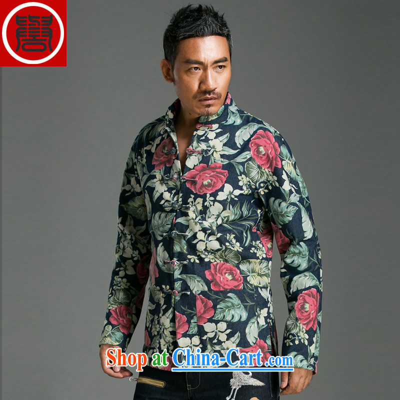 Internationally renowned Chinese style suits the stamp duty charge of Tang Dynasty style decorated in stylish. floral jacket floral movement (Global 3-piece)