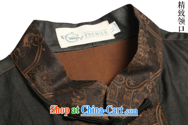 Internationally renowned men's Silk short-sleeved Chinese male Chinese shirt sauna silk shirt incense cloud yarn men's short-sleeved Tang black large 175 pictures, price, brand platters! Elections are good character, the national distribution, so why buy now enjoy more preferential! Health