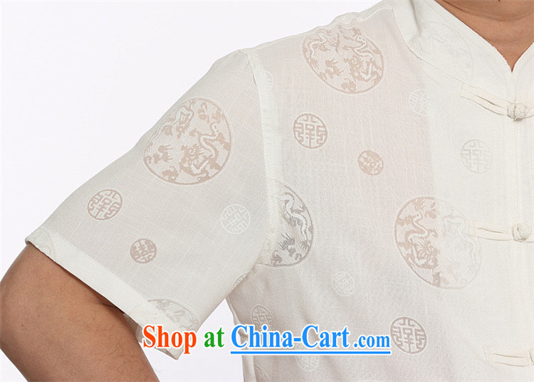 The middle-aged, male-tie Han-middle-aged and older Chinese men and a short-sleeved shirt Chinese elderly Grandpa jogging clothing summer white XXXL pictures, price, brand platters! Elections are good character, the national distribution, so why buy now enjoy more preferential! Health